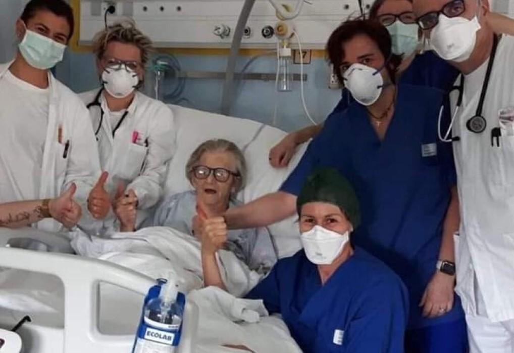 old woman recovered coronavirus