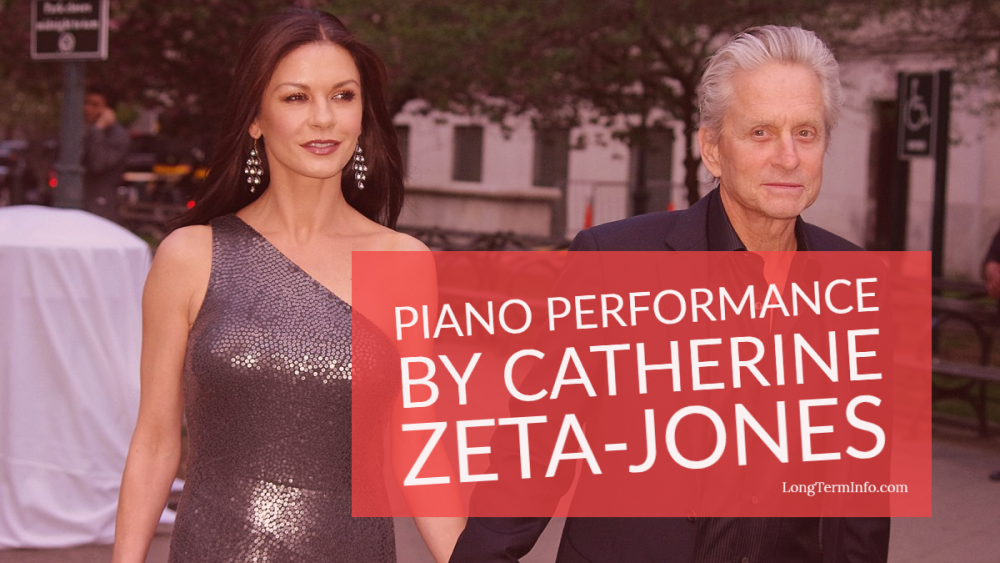 Piano performance and singing from home by Catherine Zeta-Jones