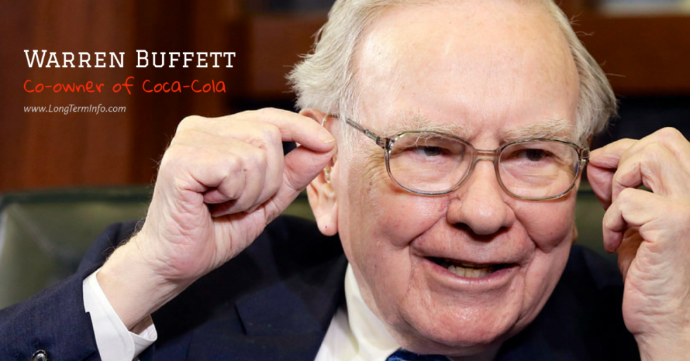 Coca-cola co-owner Warren Buffett