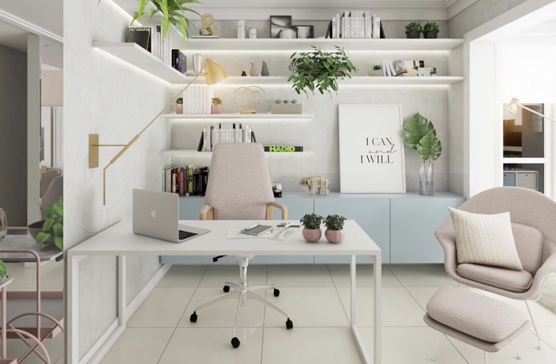 How to design a comfortable workspace at home?